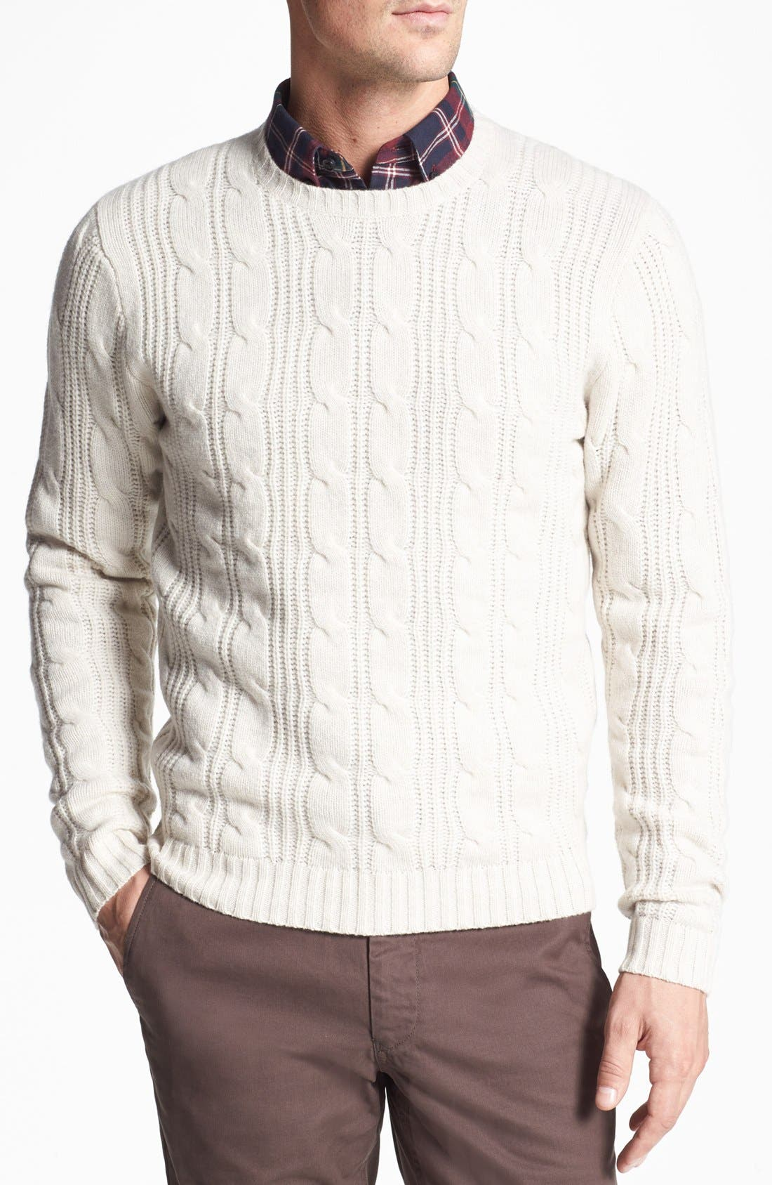 Alternate Image 1 Selected - Wallin & Bros. Cable Knit Sweater