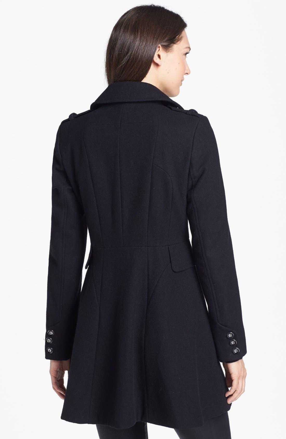 Alternate Image 4  - Via Spiga Double Breasted Wool Blend Military Coat