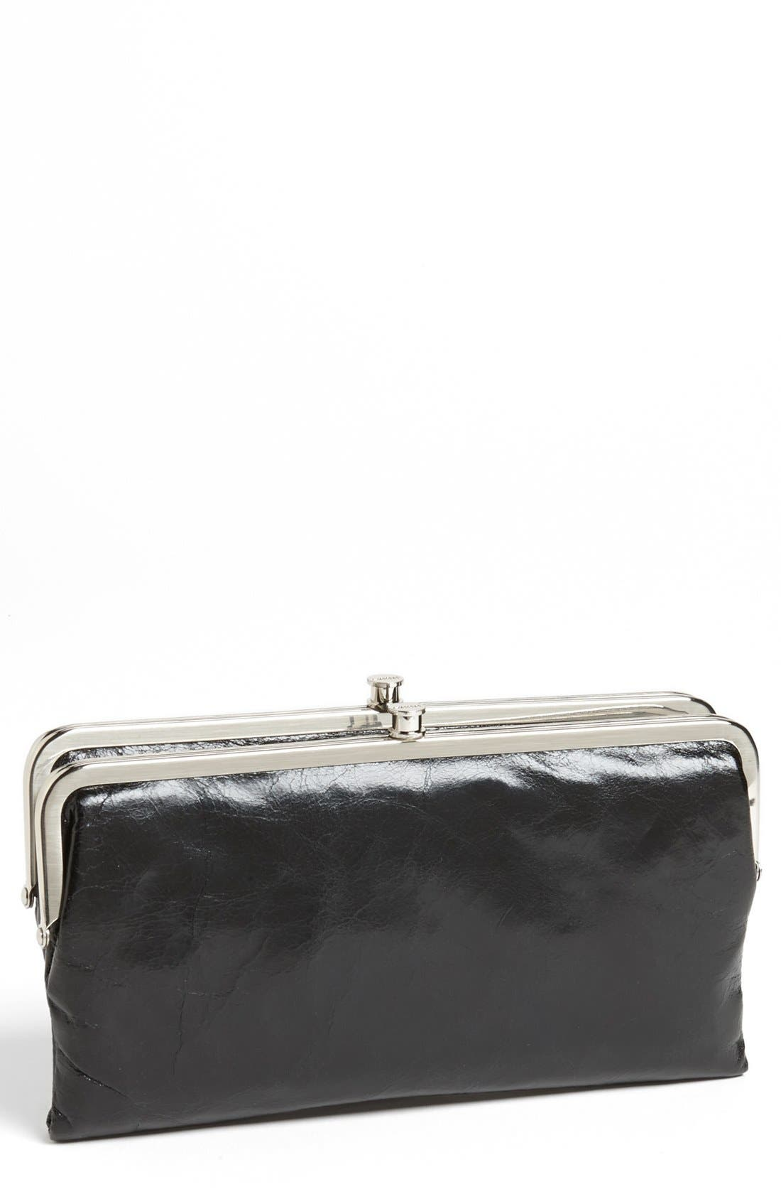 Main Image - Hobo 'Lauren' Leather Double Frame Clutch