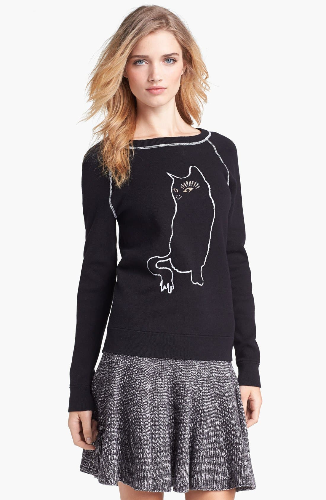 Alternate Image 1 Selected - MARC BY MARC JACOBS 'Rue Cat' Intarsia Sweater