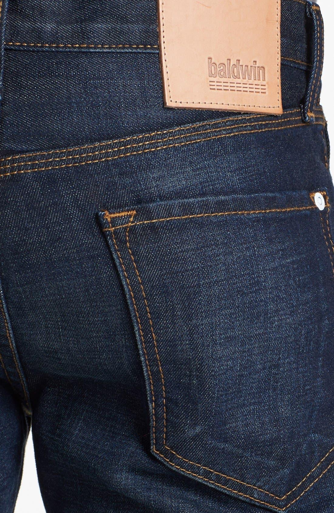 Alternate Image 4  - Baldwin 'Henley' Skinny Fit Jeans (Daniel)