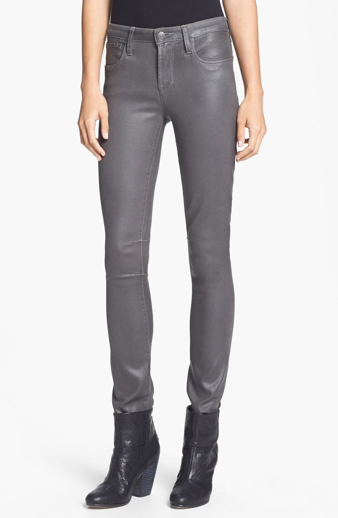 Alternate Image 1 Selected - HELMUT Helmut Lang 'High Gloss' Skinny Pants