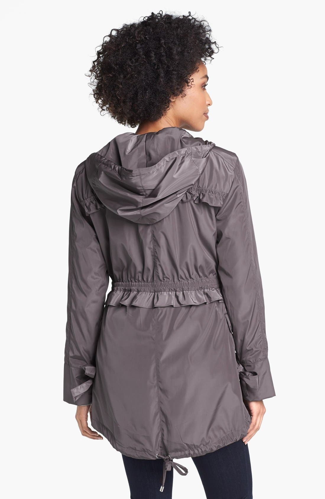 Alternate Image 2  - Betsey Johnson Ruffled Anorak