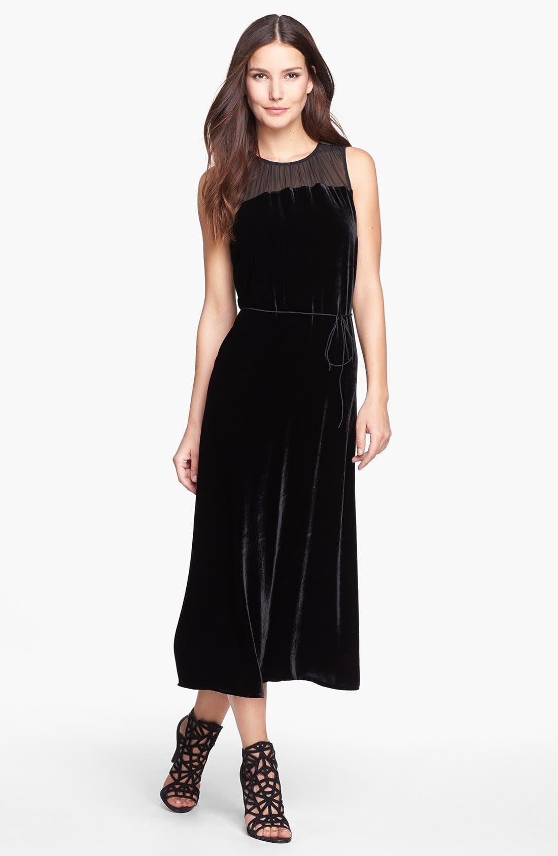 Alternate Image 1 Selected - Eileen Fisher Washable Velvet & Silk Dress