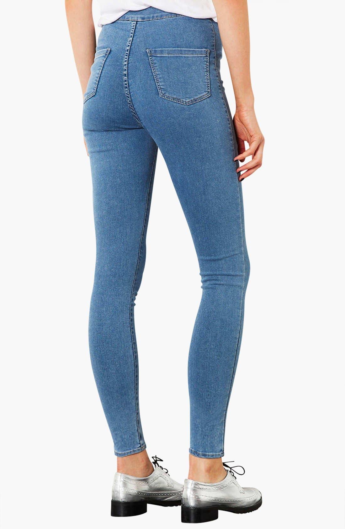 Alternate Image 2  - Topshop Moto 'Joni' High Rise Skinny Jeans (Mid Stone) (Short)