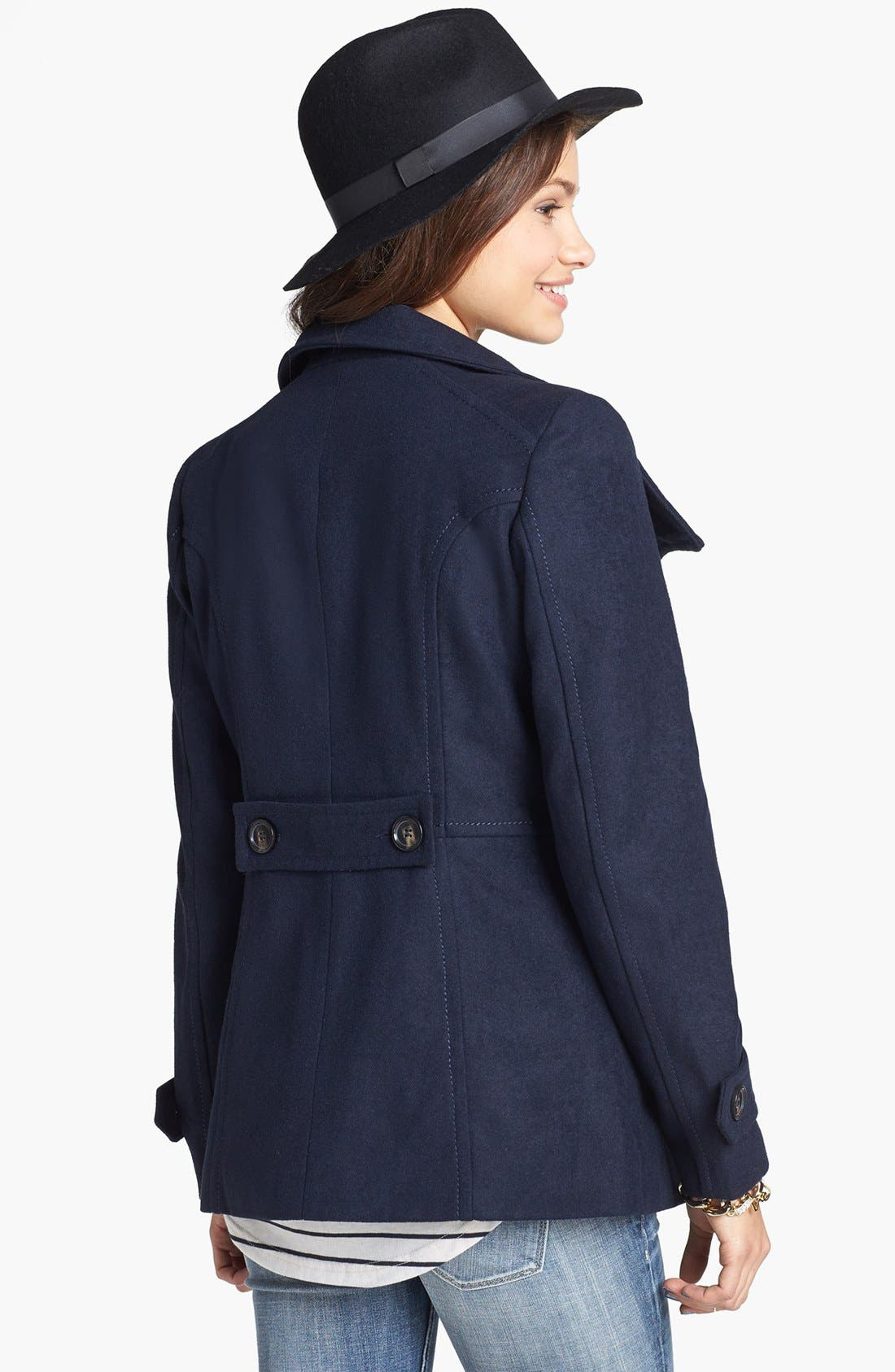 Alternate Image 2  - Thread & Supply Double Breasted Peacoat (Online Only)