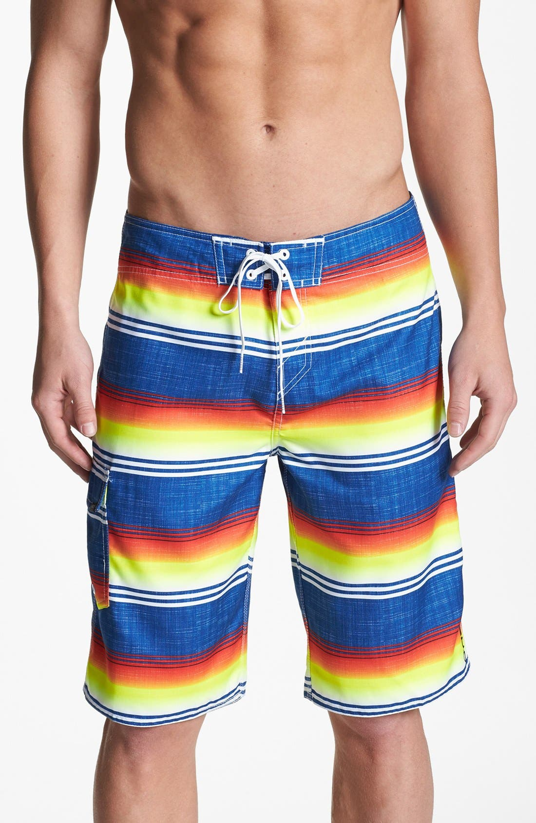Main Image - O'Neill 'Santa Cruz' Stripe Print Board Shorts