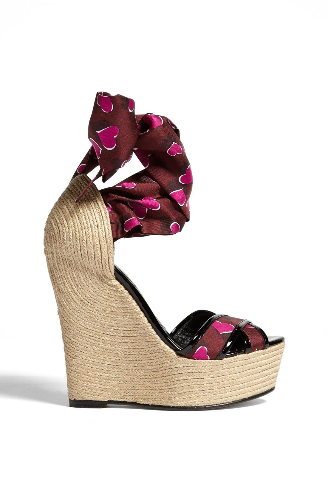 Alternate Image 4  - Gucci 'Carolina' Print Espadrille Wedge Sandal