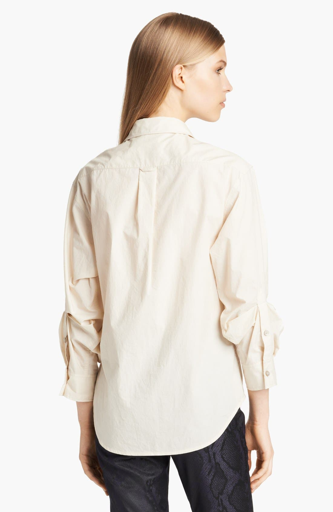 Alternate Image 2  - Donna Karan Casual Luxe Paper Cotton Shirt