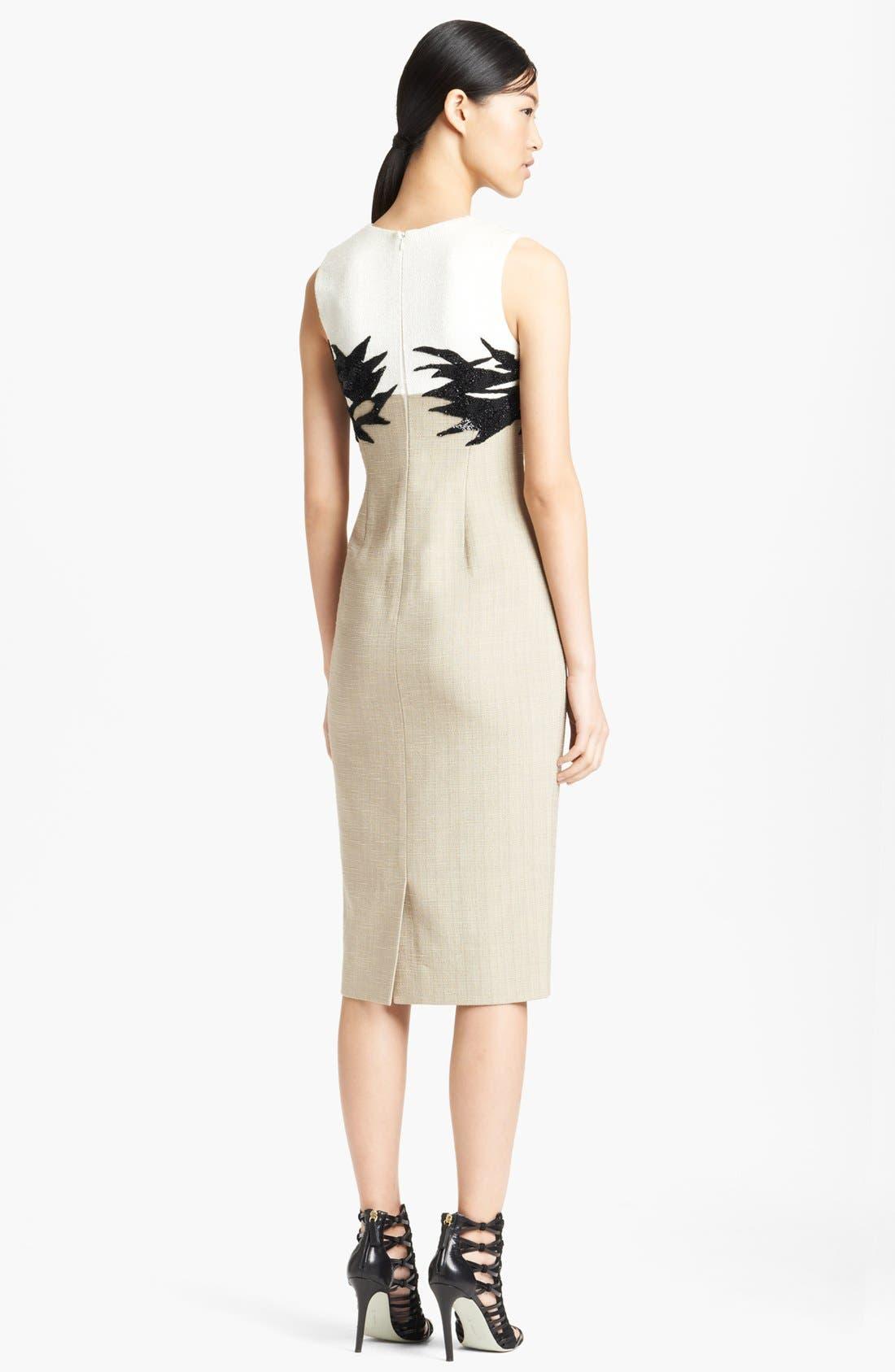 Alternate Image 2  - Jason Wu Botanical Appliqué Tweed Sheath Dress