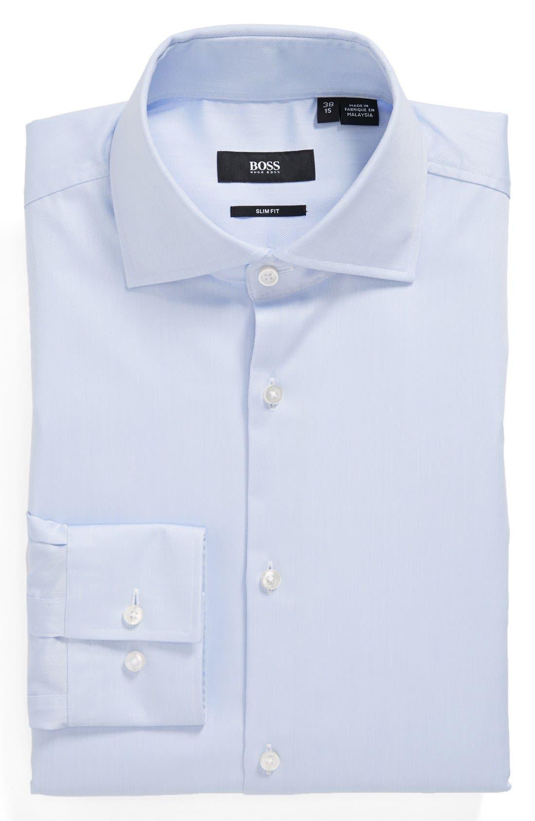 Main Image - BOSS HUGO BOSS 'Jaron' Easy Iron Slim Fit Dress Shirt