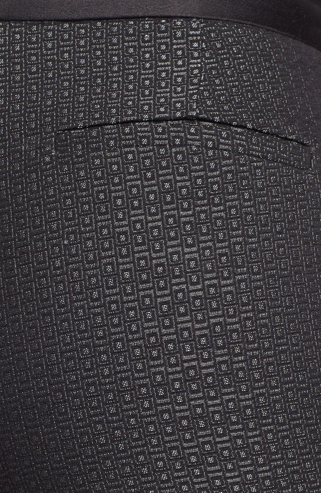 Alternate Image 3  - Halogen® 'Quinn' Tuxedo Jacquard Skinny Ankle Pants (Petite)
