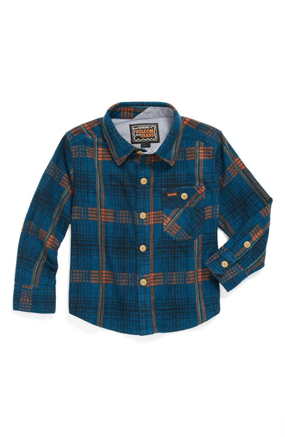 Alternate Image 1 Selected - Volcom 'Harry' Plaid Shirt (Toddler Boys)