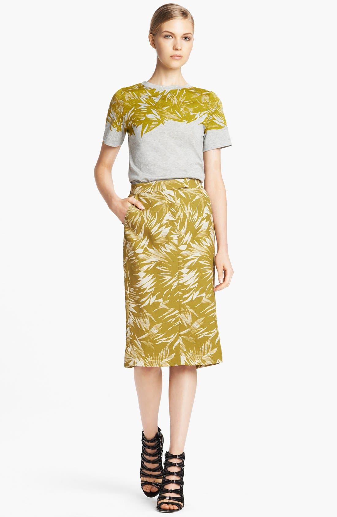 Alternate Image 3  - Jason Wu Botanical Print Linen Crepe Skirt