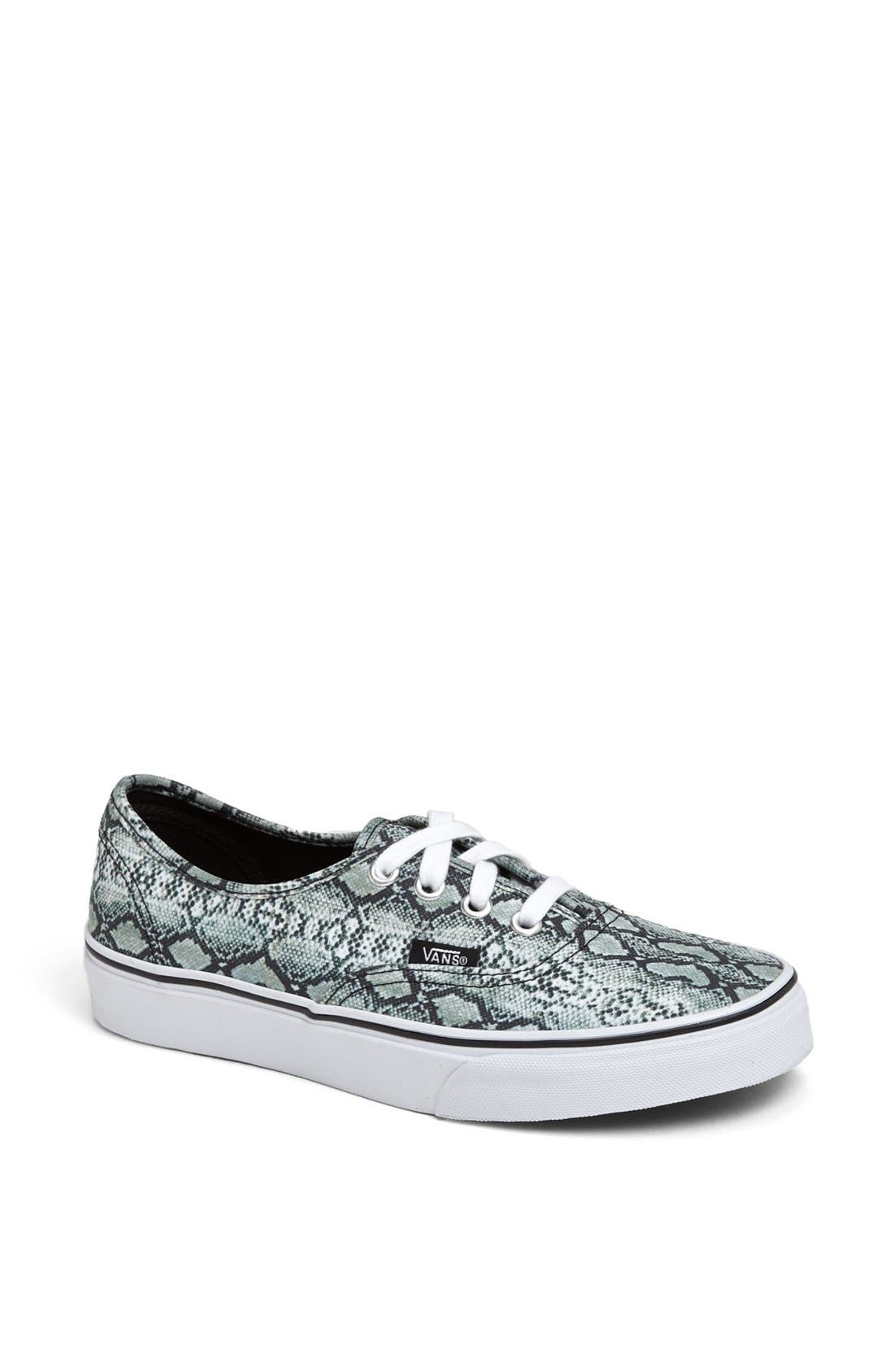 Alternate Image 1 Selected - Vans 'Authentic - Snake Print' Sneaker (Women)