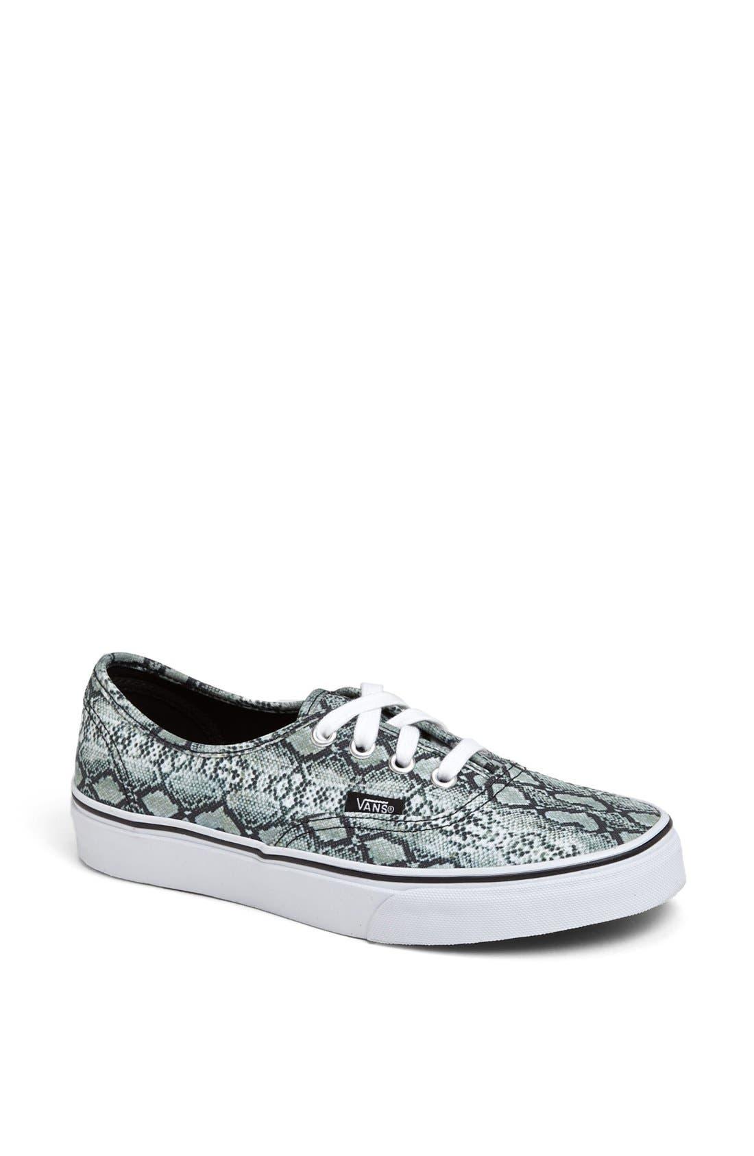 Main Image - Vans 'Authentic - Snake Print' Sneaker (Women)
