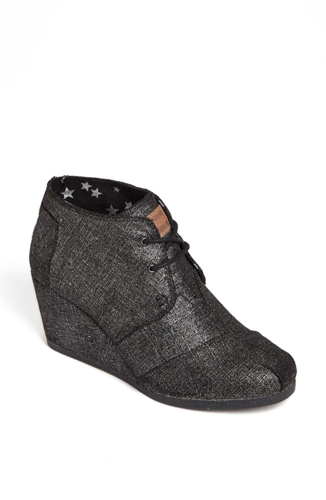 Alternate Image 1 Selected - TOMS 'Desert' Metallic Linen Bootie (Women)
