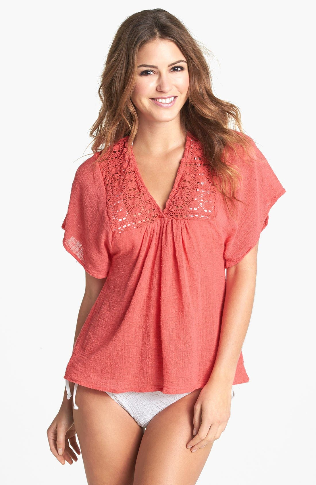 Alternate Image 1 Selected - Surf Gypsy Crochet Top