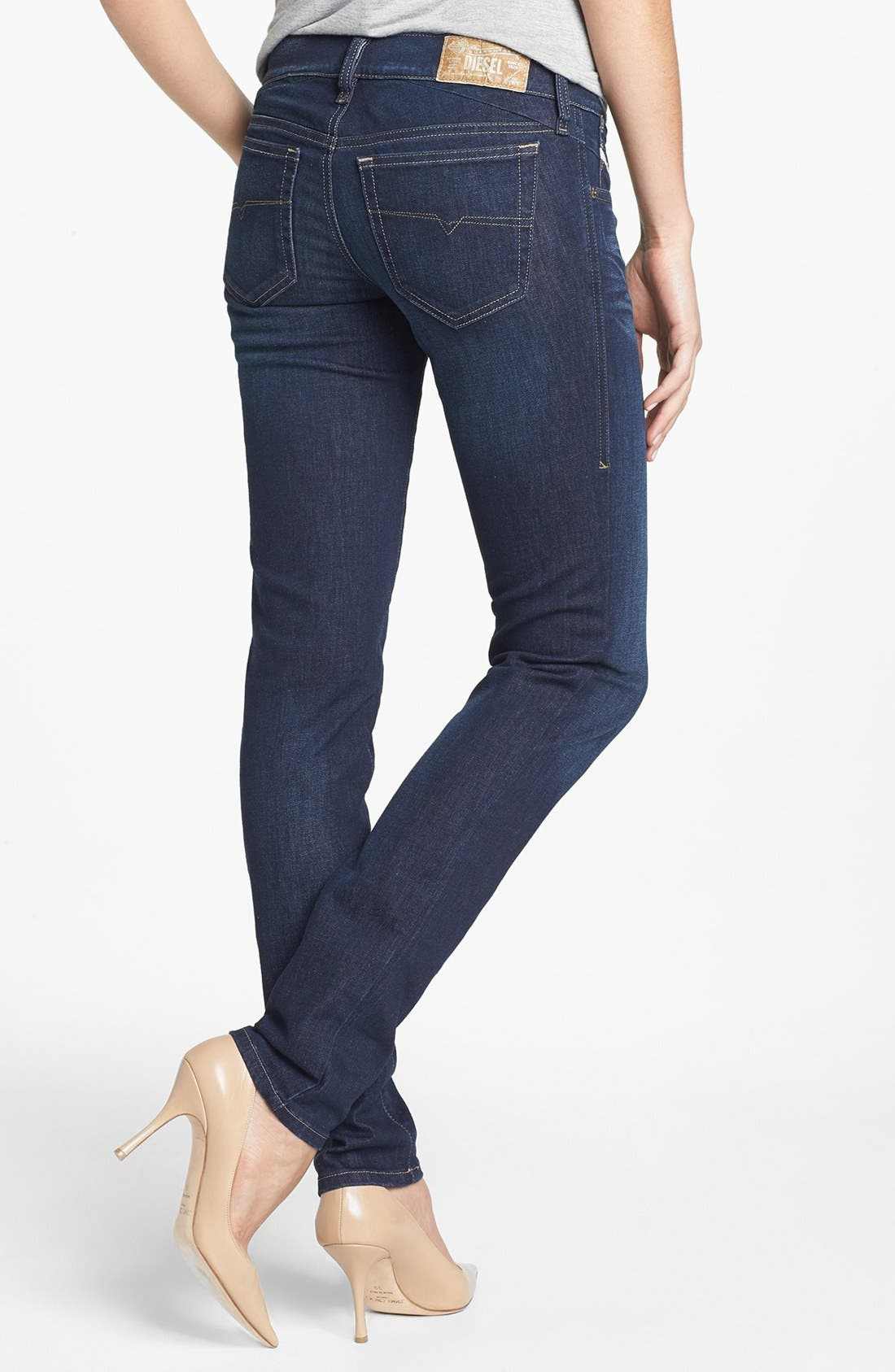 Alternate Image 2  - DIESEL® 'Getlegg' Low Rise Slim Jeans