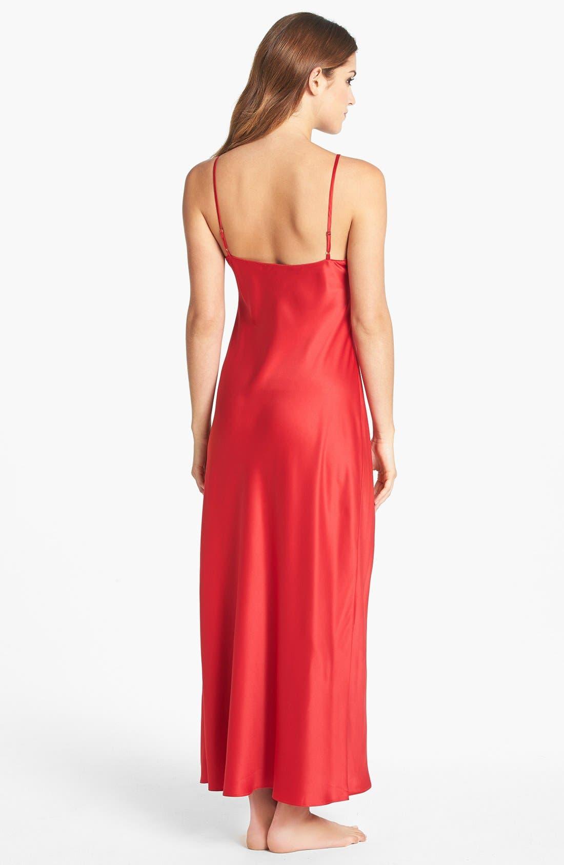 Alternate Image 2  - Natori Long Charmeuse Nightgown