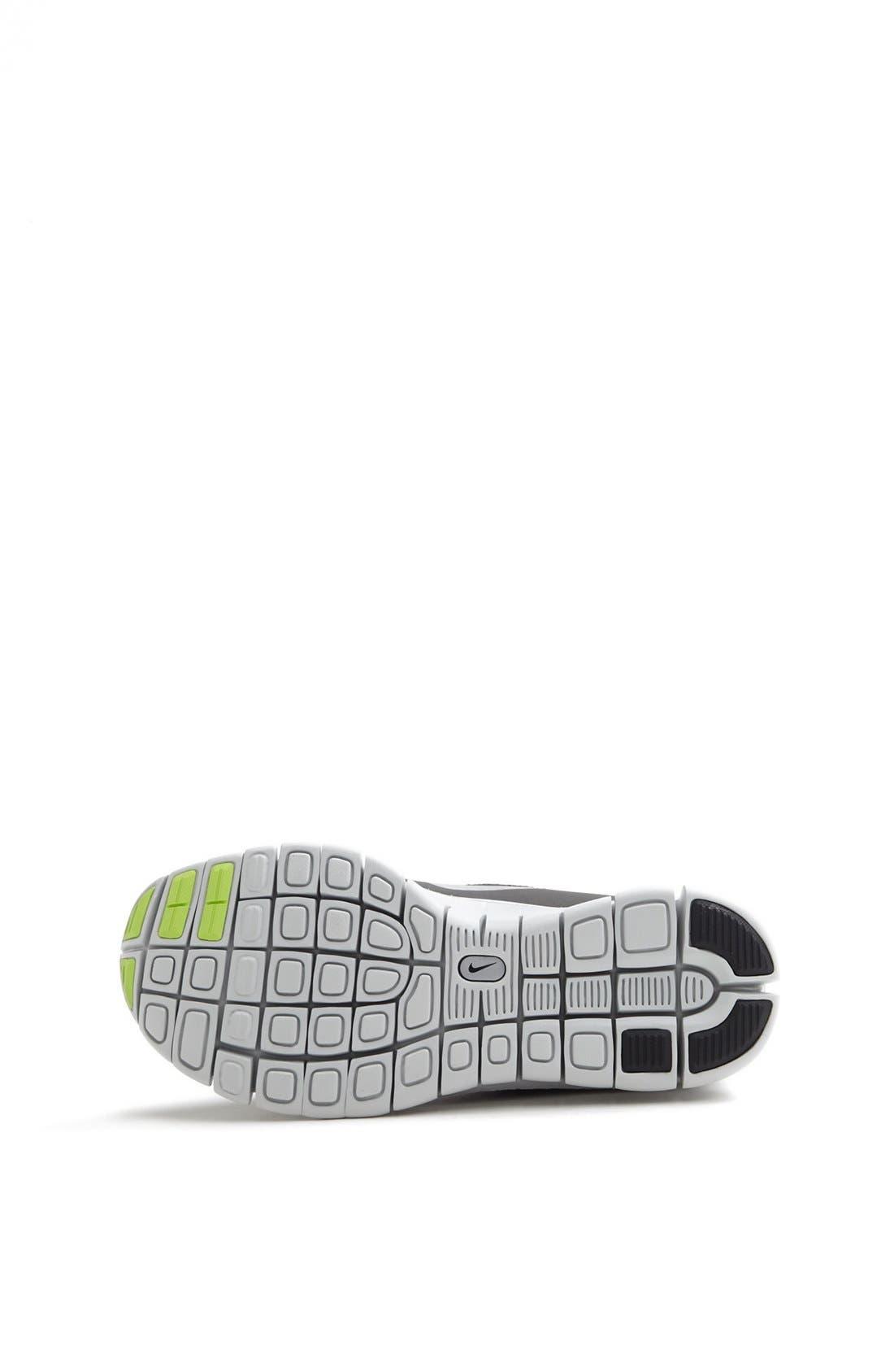 Alternate Image 4  - Nike 'Free 5.0 Shield' Running Shoe (Big Kid)