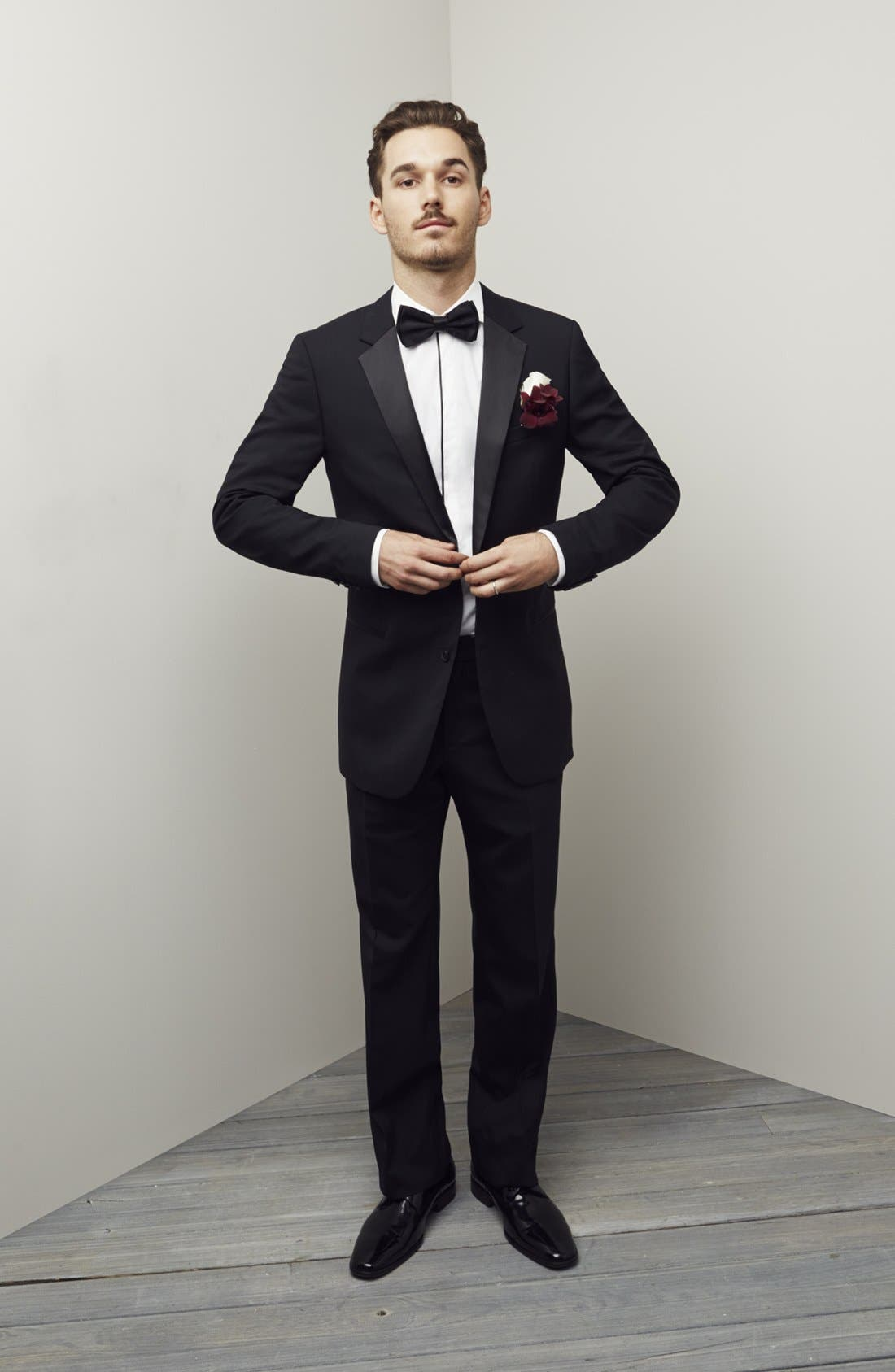 Alternate Image 7  - HUGO 'Aikin Hollo' Trim Fit Wool Tuxedo