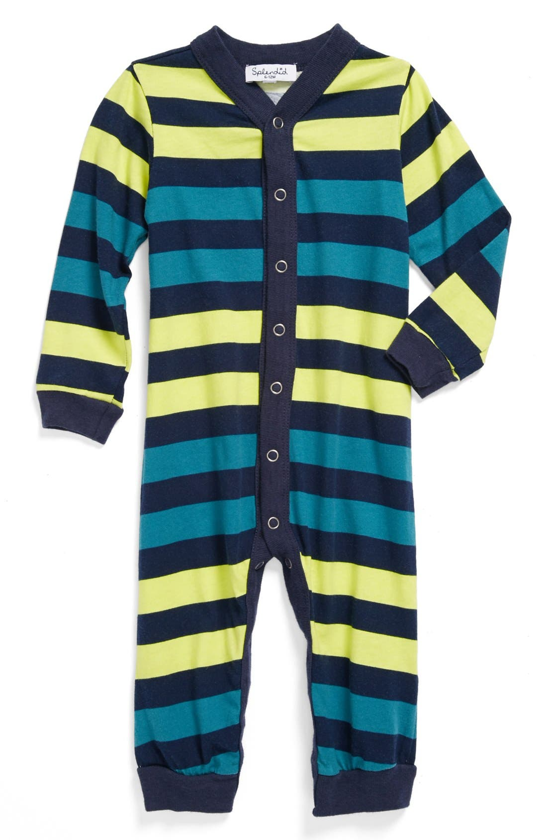 Alternate Image 1 Selected - Splendid Stripe Romper (Baby)