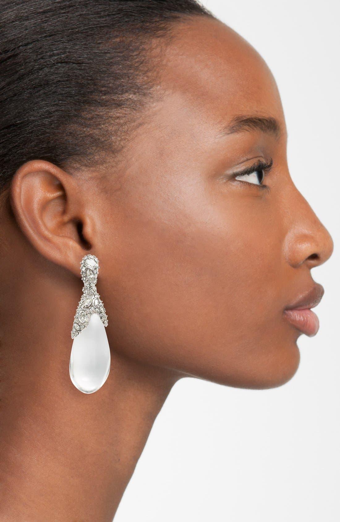 Alternate Image 2  - Alexis Bittar 'Lucite® - Winter Deco' Clip Earrings
