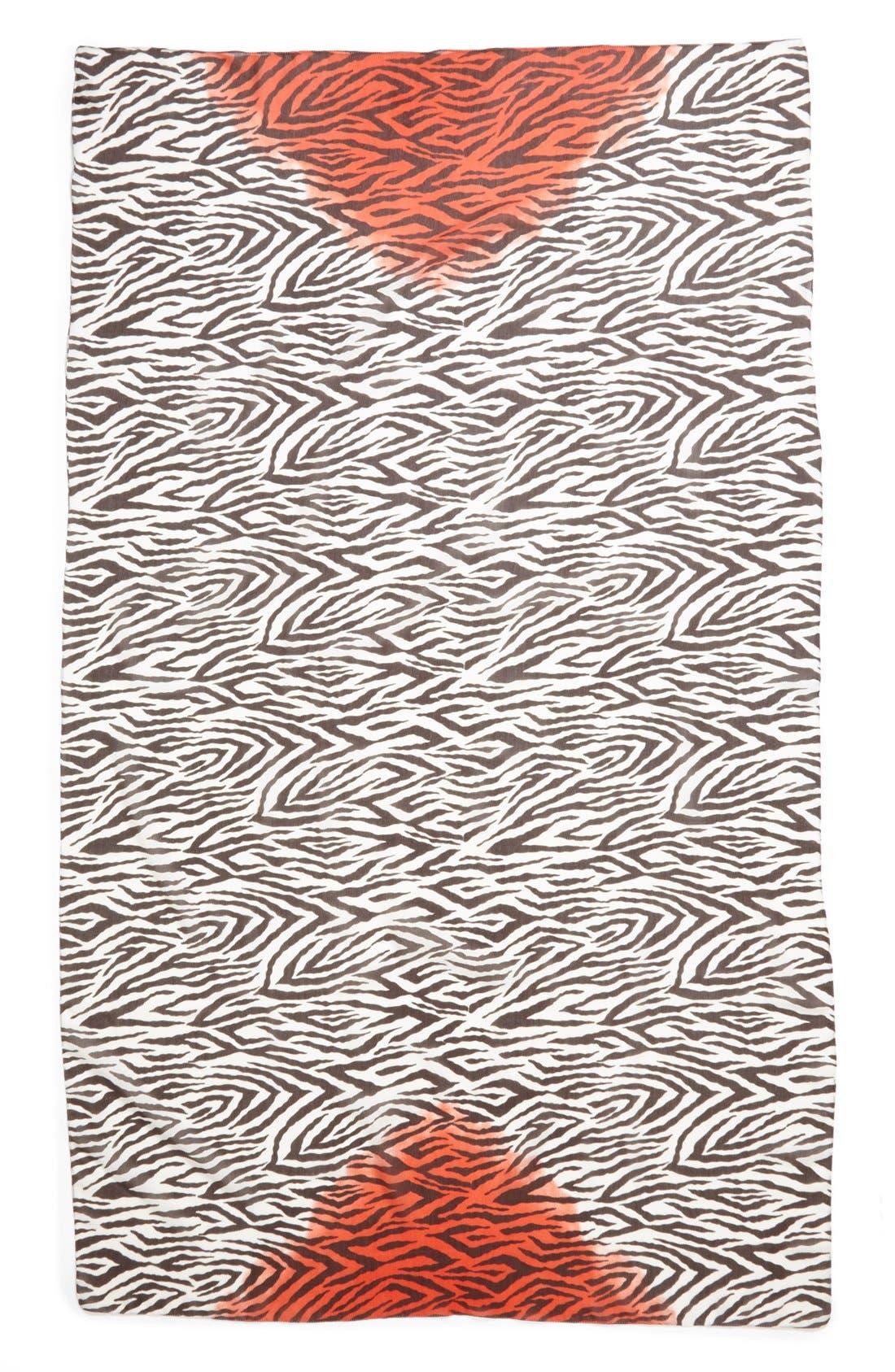 Alternate Image 2  - Nordstrom Zebra Print Scarf