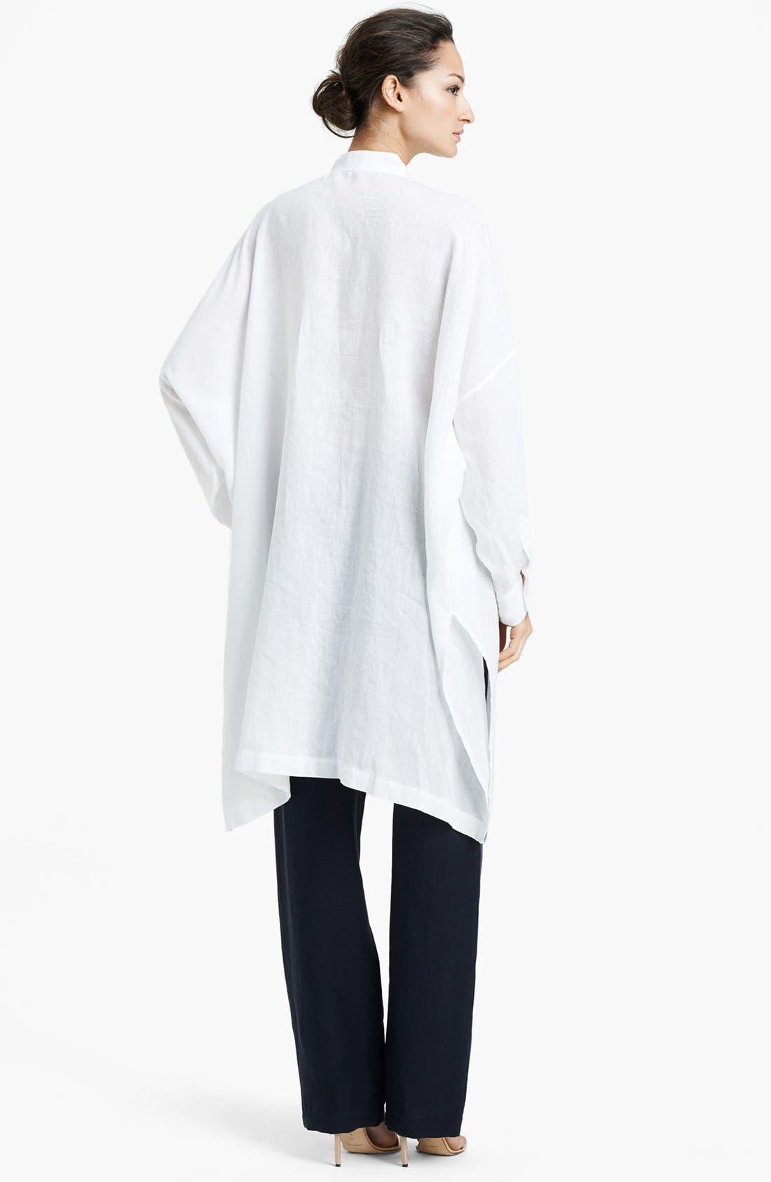 Alternate Image 2  - eskandar Long Handkerchief Linen Tunic