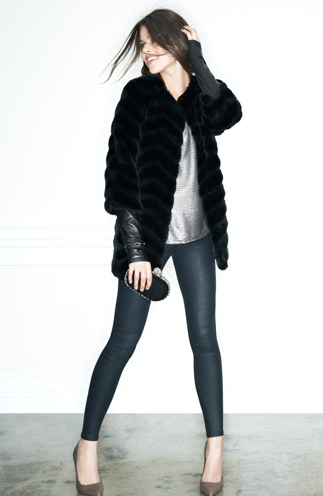 Alternate Image 5  - AG Coated Extreme Skinny Jeans (BSC)