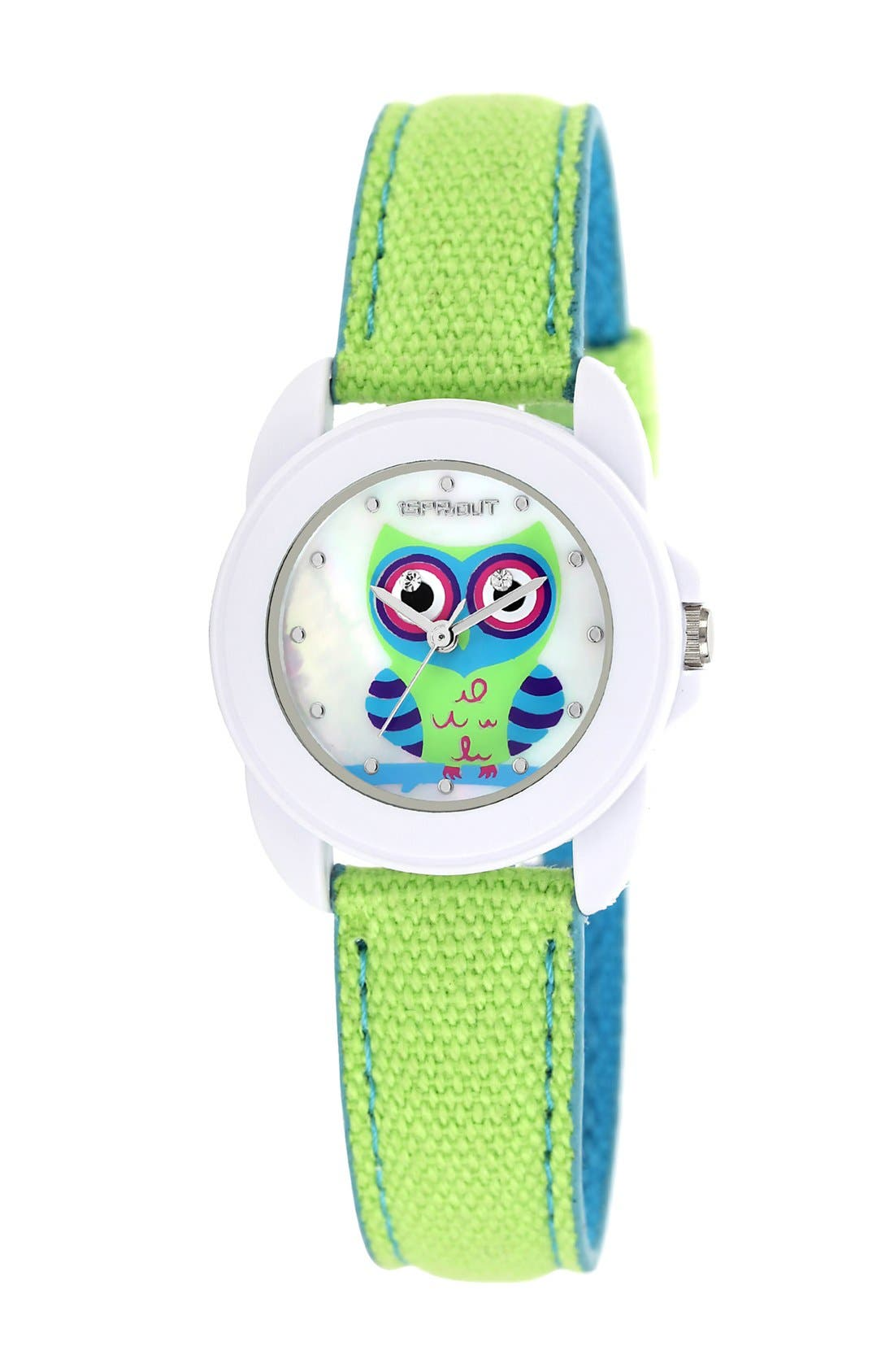 Alternate Image 1 Selected - SPROUT™ Watches Owl Dial Watch, 22mm