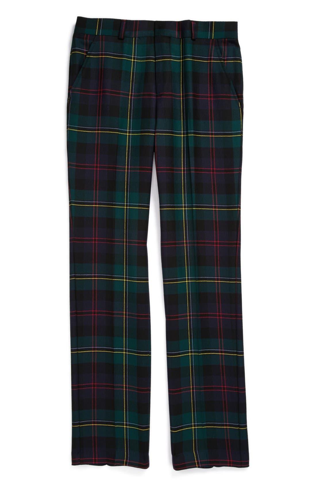 Alternate Image 1 Selected - Brooks Brothers 'Malcolm' Plaid Pants (Big Boys)