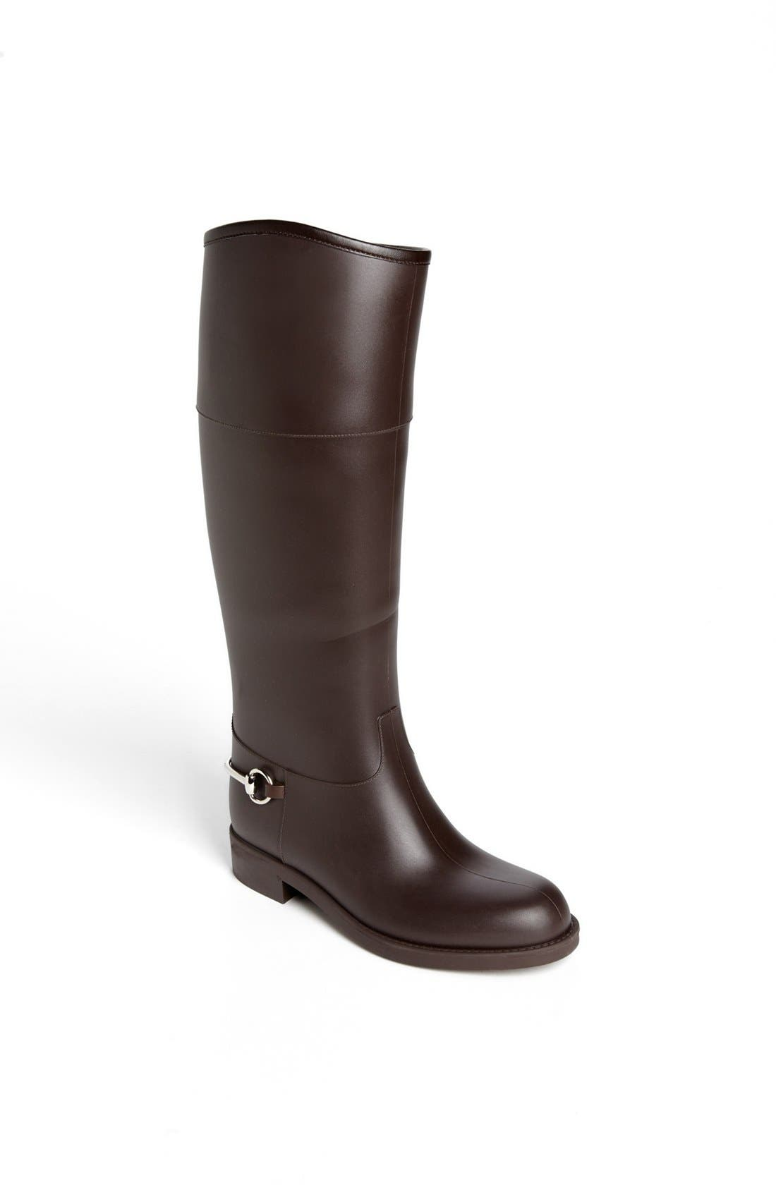 Alternate Image 1 Selected - Gucci Rubber Waterproof Rain Boot
