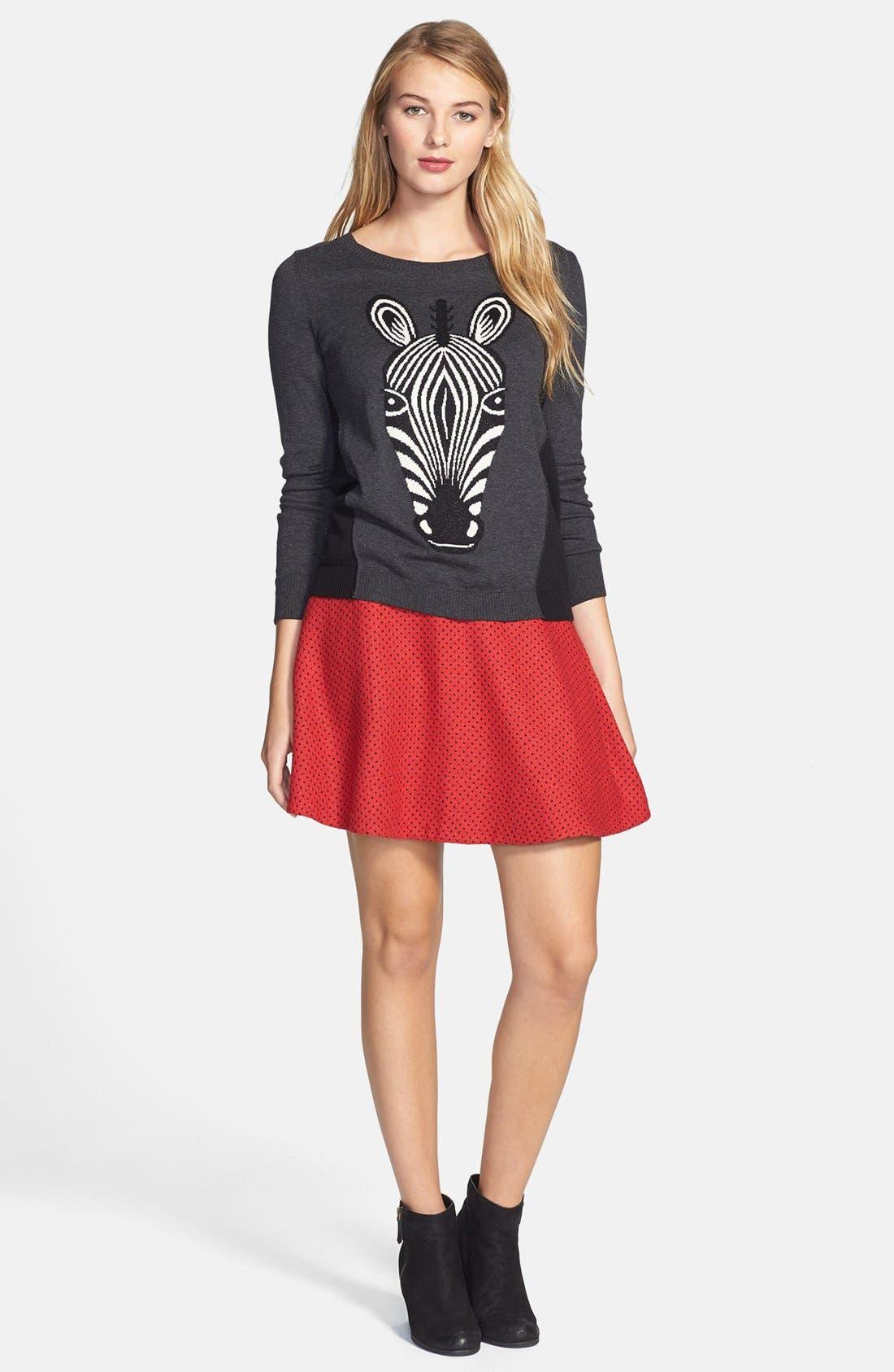 Alternate Image 4  - kensie Zebra Intarsia Sweater