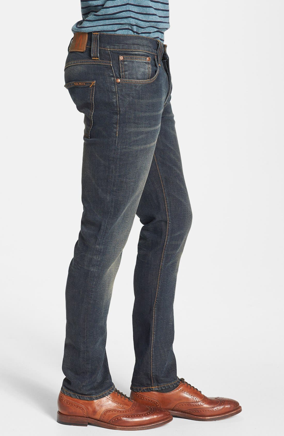 Alternate Image 3  - Nudie Jeans 'Thin Finn' Skinny Fit Jeans (Organic Worn In Pepper)