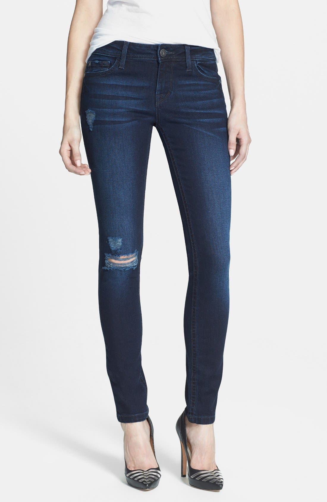 Main Image - DL1961 'Amanda' Distressed Skinny Jeans (Seville)