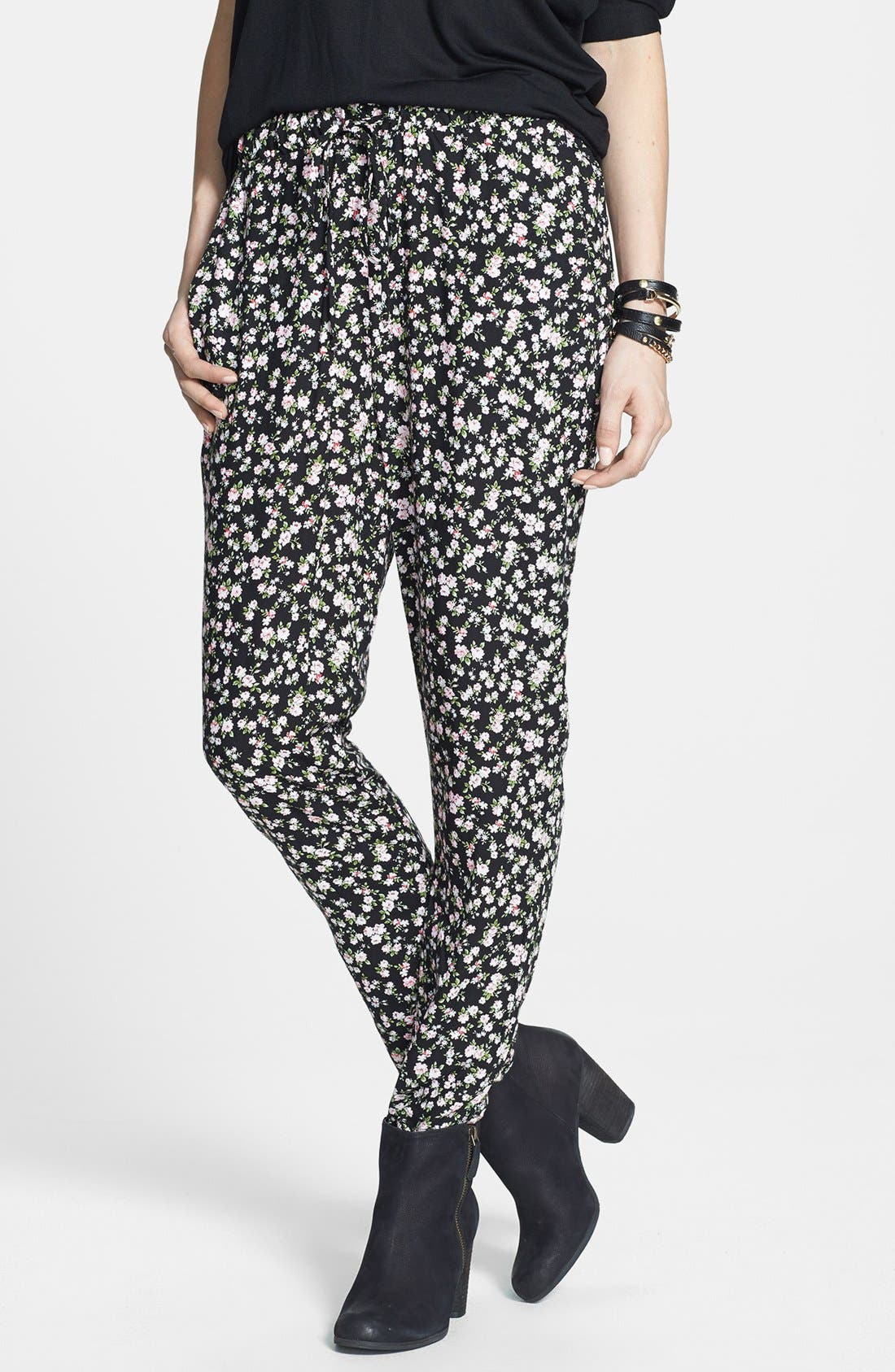 Alternate Image 1 Selected - h.i.p. Print Track Pants (Juniors) (Online Only)