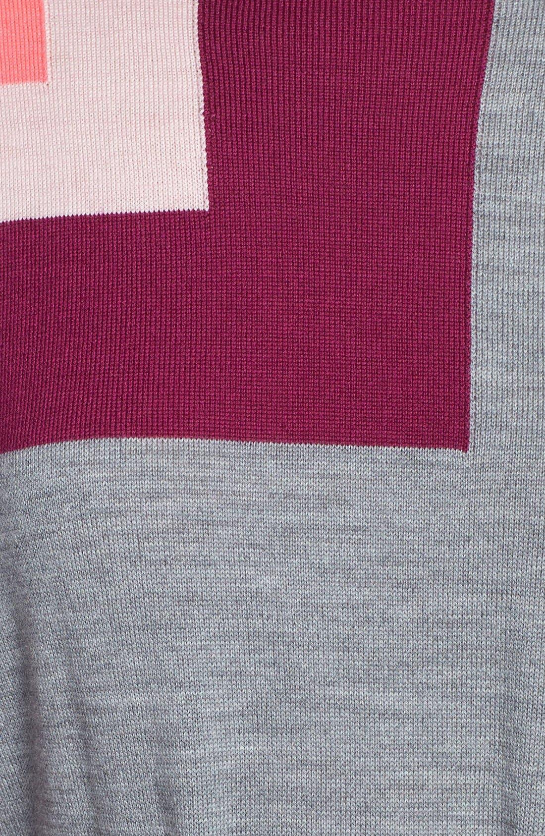 Alternate Image 4  - Trina Turk 'Bonaire' Colorblock Merino Sweater Dress