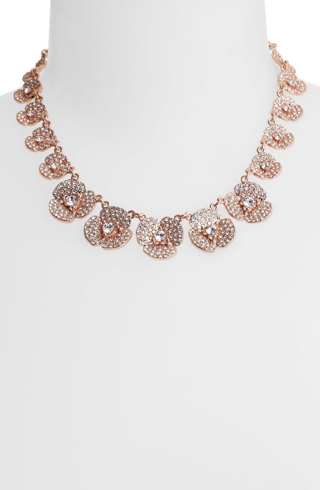 Alternate Image 1 Selected - kate spade new york 'disco pansy' pavé flower collar necklace
