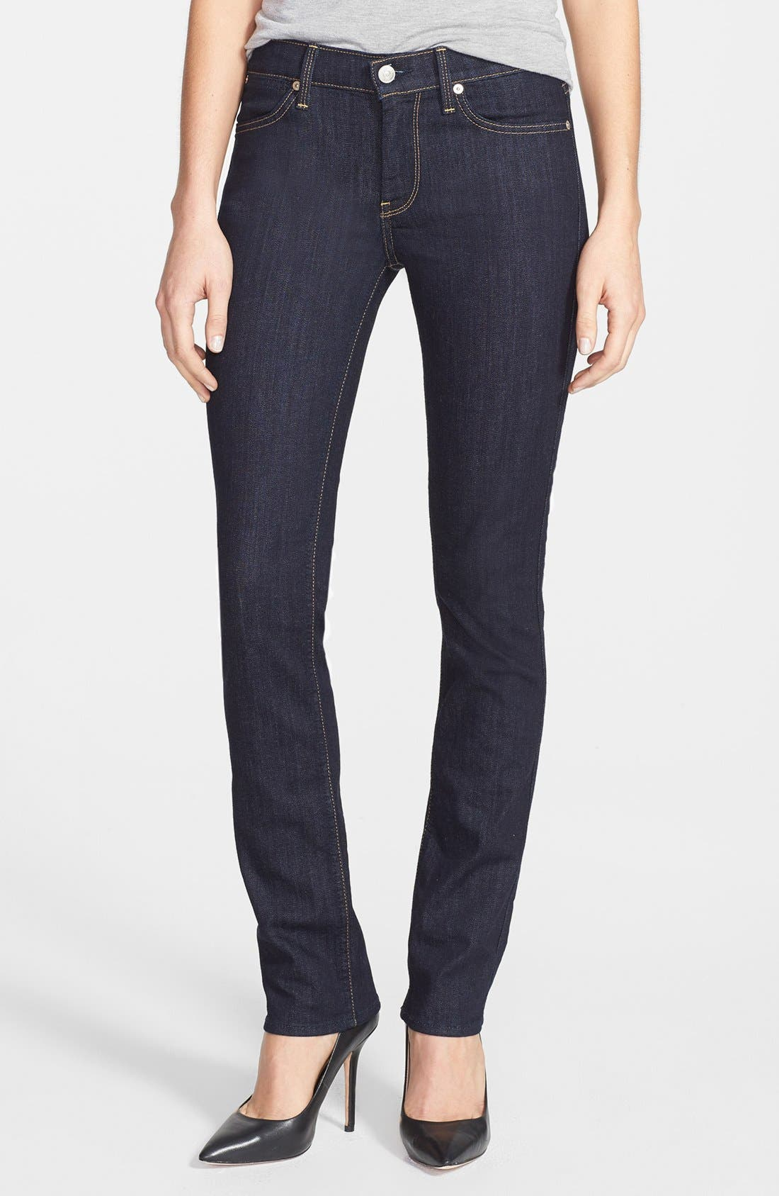 Alternate Image 1 Selected - 7 For All Mankind® 'Modern' Straight Leg Jeans (Ink)