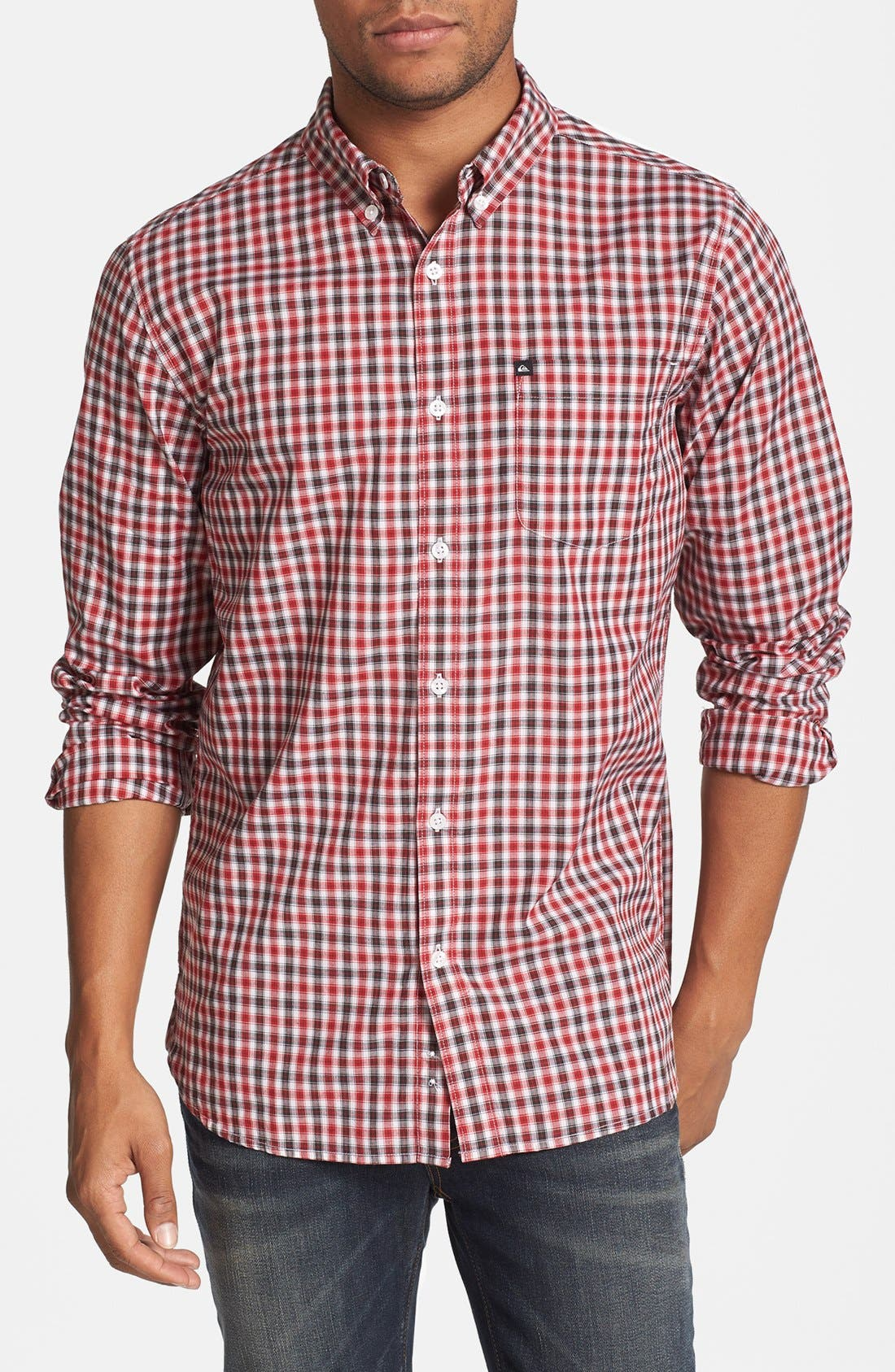 Alternate Image 1 Selected - Quiksilver Waterman 'Tight Lines' Check Shirt