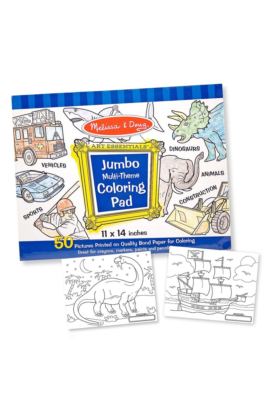 Main Image - Melissa & Doug 'Jumbo' Multi Theme Coloring Pad