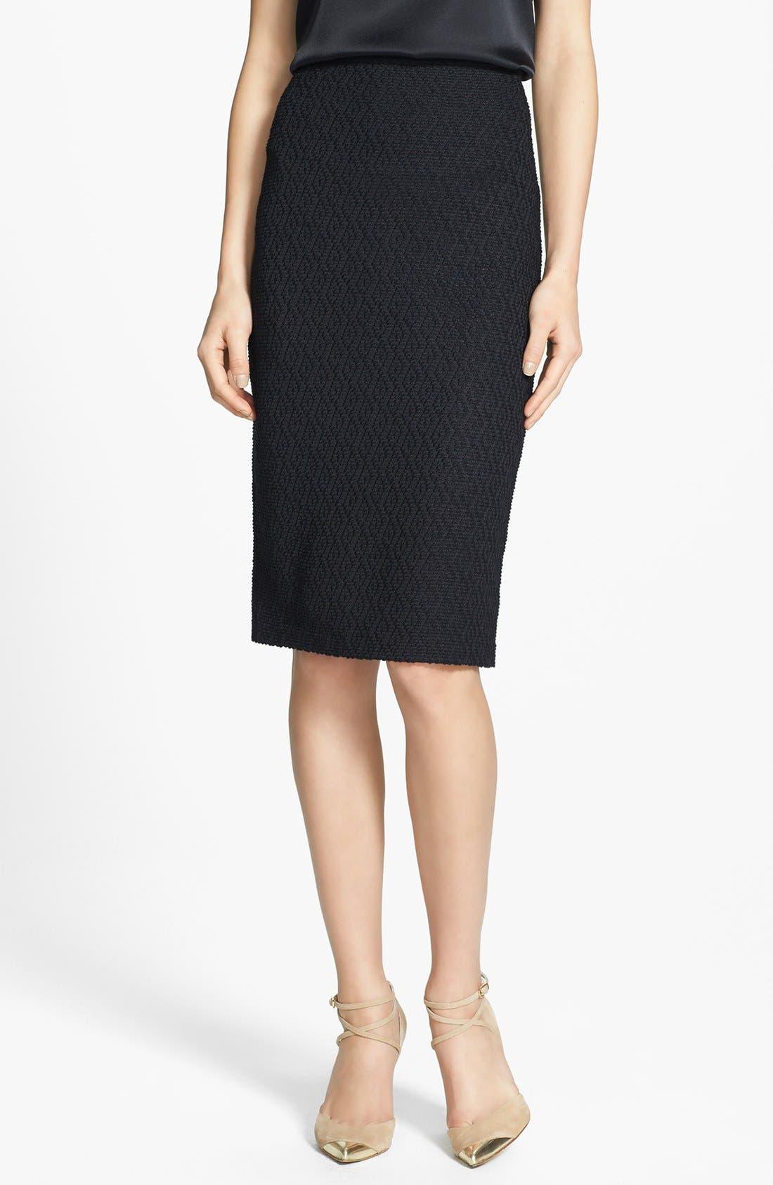 Main Image - St. John Collection Diamond Dash Knit Skirt