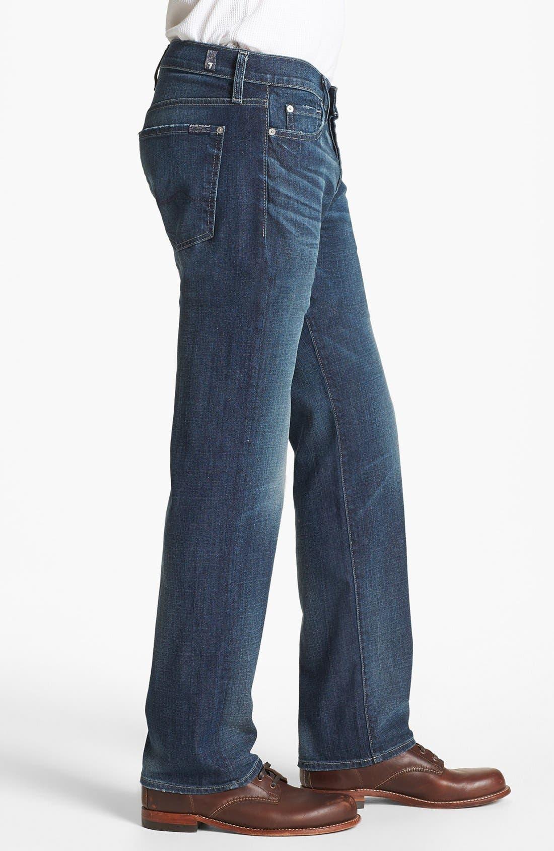 Alternate Image 3  - 7 For All Mankind® 'Standard' Straight Leg Jeans (Deep Creek)
