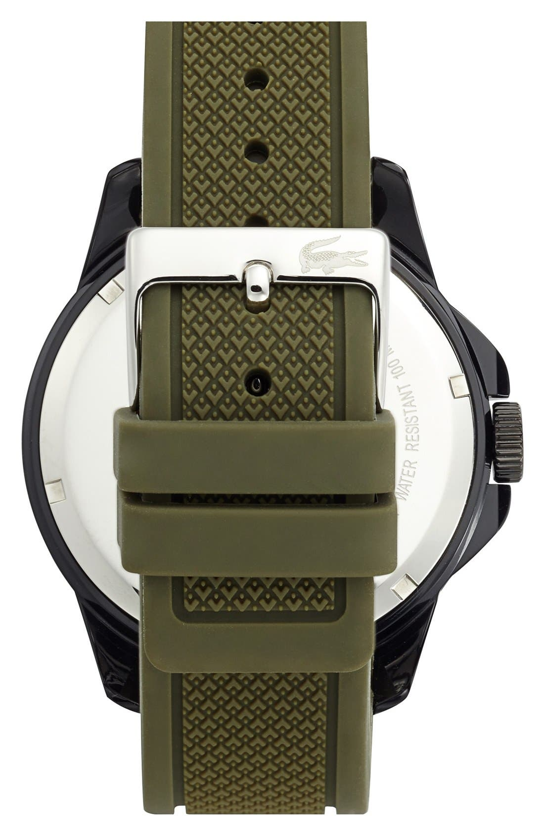 Alternate Image 2  - Lacoste 'Fiji' Silicone Strap Watch, 46mm
