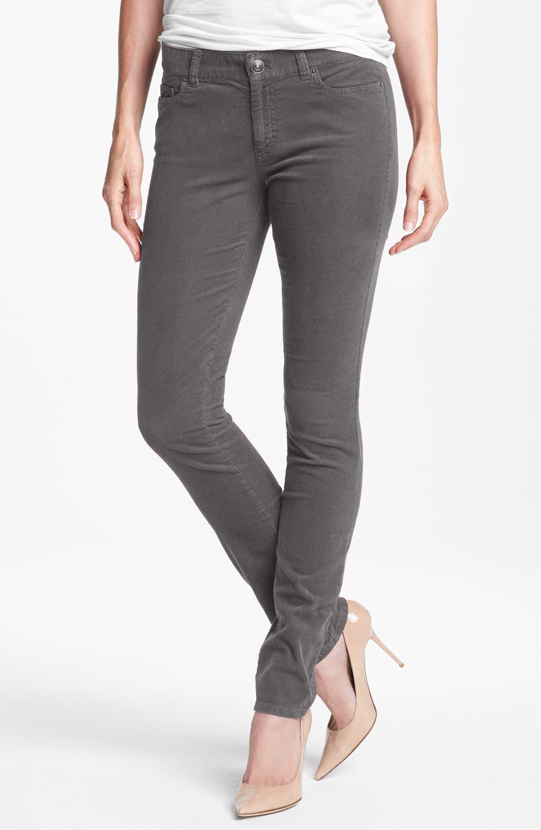 Alternate Image 1 Selected - Halogen® Stretch Skinny Corduroy Pants