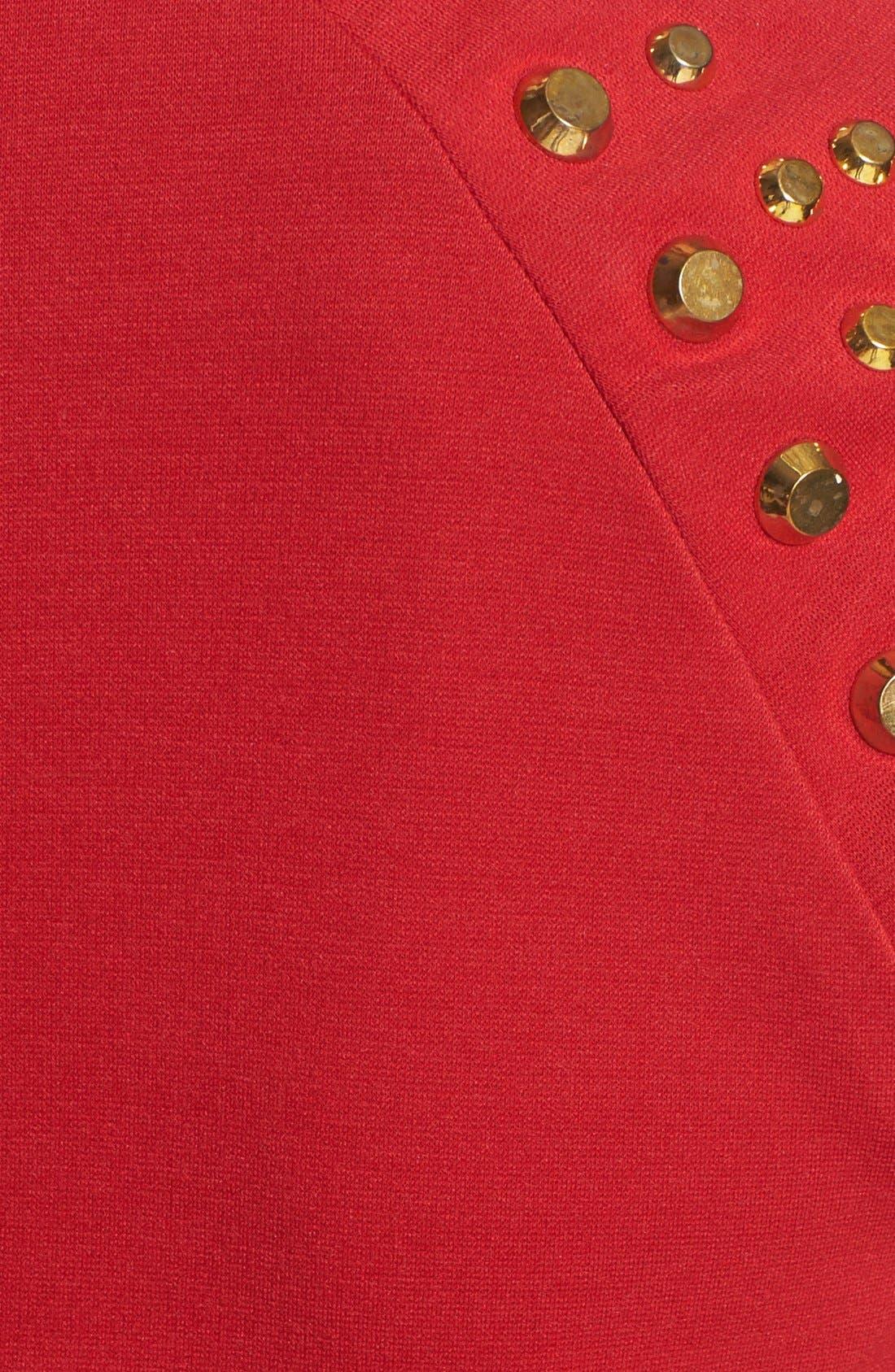 Alternate Image 3  - MICHAEL Michael Kors Studded Sleeve Ponte Dress