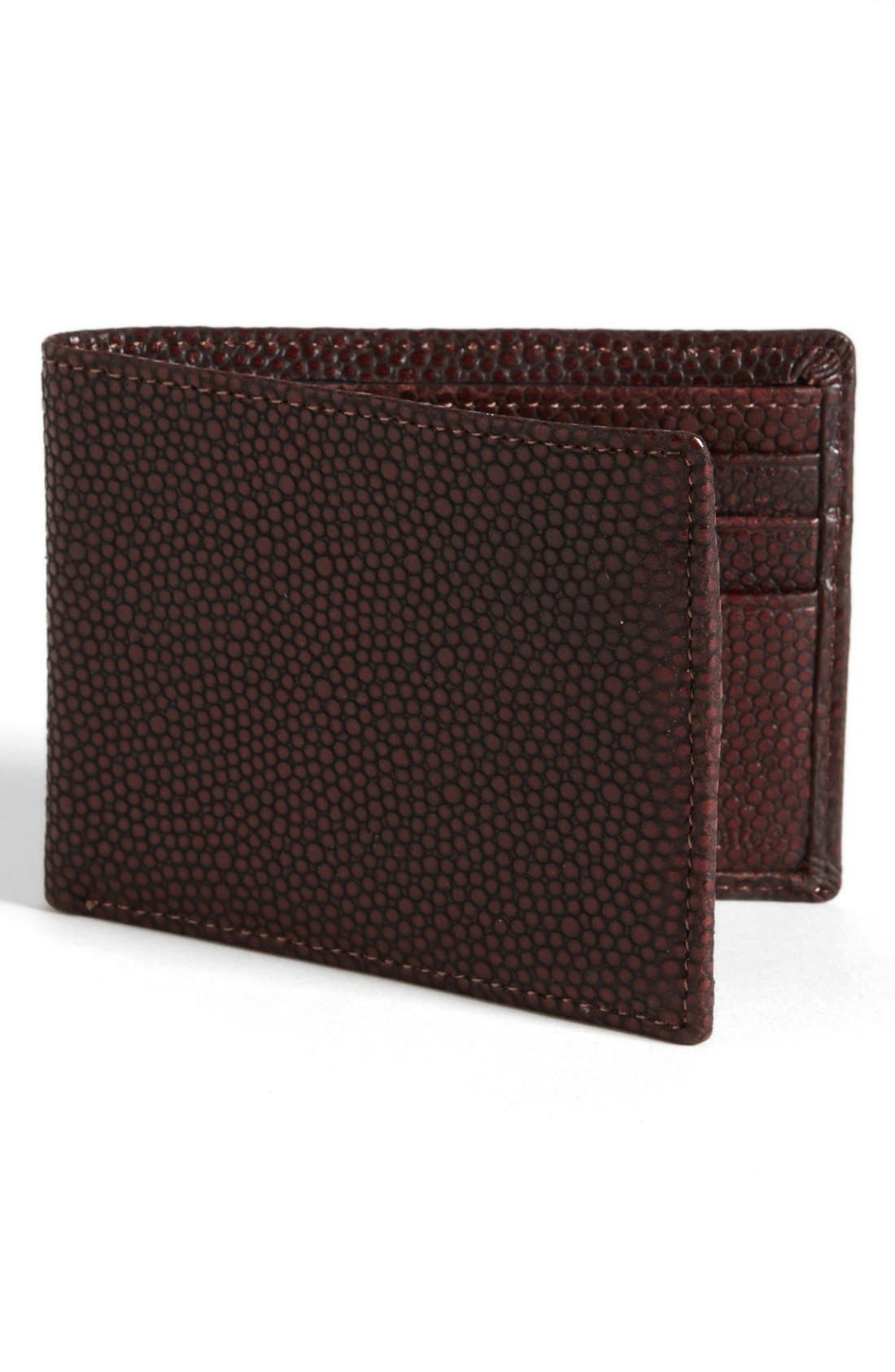 Main Image - John Varvatos Collection Pebbled Leather Wallet
