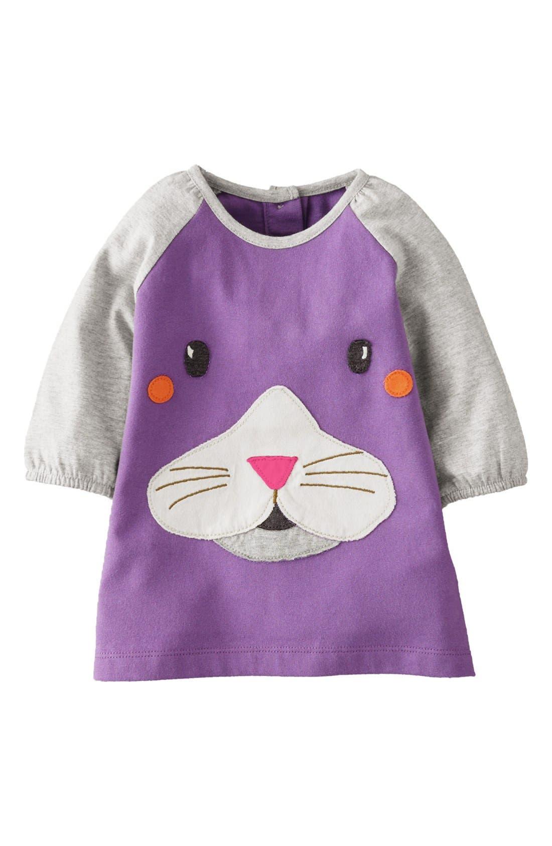 Alternate Image 1 Selected - Mini Boden Appliqué Play Dress (Baby Girls)